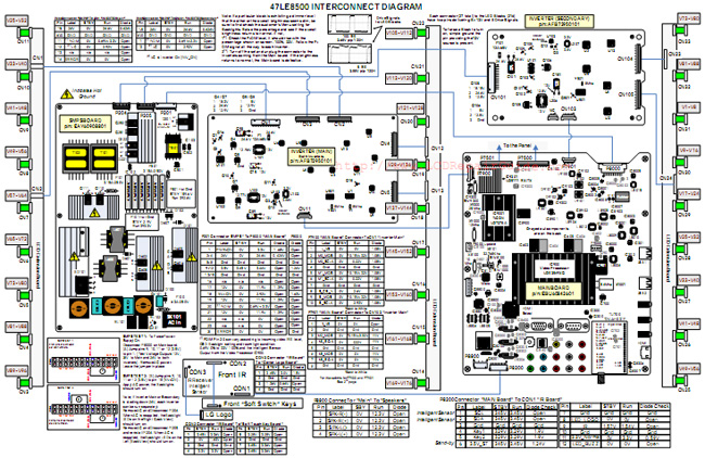 LG 47LE8500 LED TV Interconnect Diagram led tv circuit diagram circuit and schematics diagram samsung tv wiring diagram at n-0.co